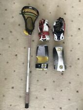 Lacrosse Stick, Gloves And Elbow Pads