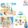 Happy Newborn Baby Cot Bed Car Crib Buggy Musical Toy Sensory Projector Gift UK