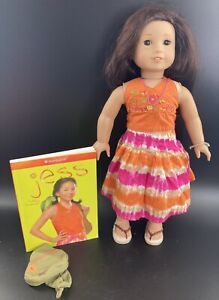 American Girl Jess, Retired in Meet Outfit w/ Book, Girl of the Year 2006