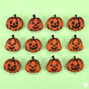 Dress It Up Buttons Jack O Lanterns 1200 - Halloween Witches Pumpkins Bats Ghost