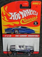 Hot Wheels Classics 1967 Camaro Convertible Series 2  #7 Black Mattel 2005