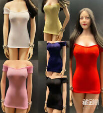 """1:6 Female Mini Dress Tight Slim Skirt Clothes Model For 12"""" Action Figure Toy"""