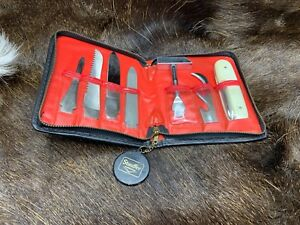 Vintage Barlow Tool Kit With Zippered Case - Handle & 9 Tools Mint & Rare