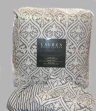 RALPH LAUREN Queen Comforter Set 4PIECE MOROCCAN BALI BATIK GRAY