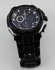 Renato Men's Mostro Black IP Watch, Swiss Ronda 5130,D, Limited Ed, Hand Made