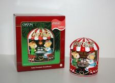 "Carlton Cards Coca Cola Lighted Christmas Ornament ""Soda Fountain Sweethearts"""