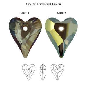 Genuine SWAROVSKI 6240 Wild Heart Crystals Pendants * Many Colors & Sizes