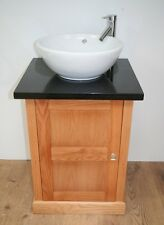 Bathroom Solid Oak Vanity Unit, with  Basin Granite Top and Mono Mixer Tap