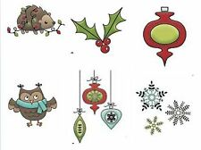"""American Crafts Imaginisce """"Snag 'Em"""" Clear Stamps Set COLORS OF CHRISTMAS ~6ct"""