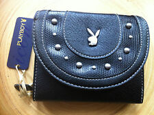 GENUINE PLAYBOY RETRO BUNNY LARGE  DAZZLING WALLET / PURSE - BLACK