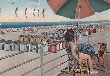 * RIMINI - Spiaggia e Donna in costume da bagno 1962
