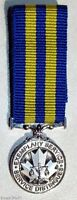 Canadian Canada The Police Exemplary Service Medal Miniature Size + Ribbon