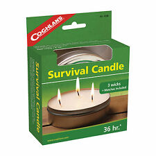 NEW! Coghlans 9248, 36-Hour Survival Candle Camping Hunting Emergency Prepared