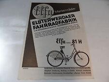 altes Prospekt mit Elfa  Fahrrad