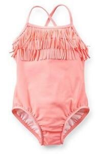 Carter's Infant Girls One Piece Fringed Swimsuit Size 3/6M 18M 24M