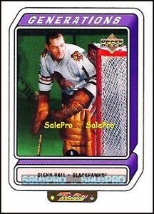 UD RETRO 1999 GLENN HALL NHL CHICAGO BLACKHAWKS GENERATIONS MINT INSERT #G3A