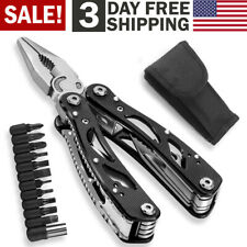 Multi Tool Knife Pliers Saw Kit Pocket Folding Multitools with Screwdriver &Bits