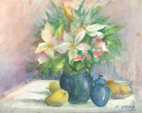 Renee Young - Signed 20th Century Watercolour, Vibrant Still Life Study