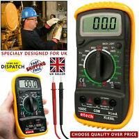 Digital Multimeter LCD Voltmeter Ammeter AC DC OHM Current Circuit Buzzer Tester