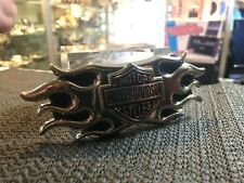 BELT BUCKLE HARLEY / DAVIDSON MOTOR CYCLES SILVER FLAME EAGLE / AUSSIE STOCK !