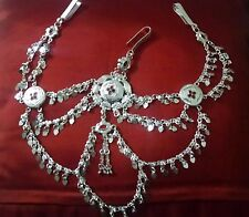 Indian Bridal Women Saree Waist Belly Dance Silver Gypsy Hip Chain Belt Jewelry
