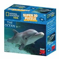 """9"""" x 12"""" National Geographic 3D Dolphin Puzzle Authentic Brand new"""