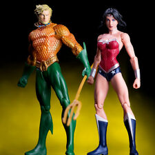 2pcs DC Aquaman Wonder Woman Action Figure Justice League Hero Toy Collection