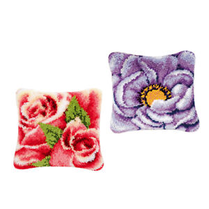 Latch Hook Kit Handmade Pillow Cover Cushion Cover for Beginners Handicraft