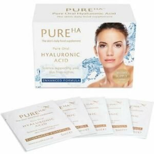 PureHA Pure Oral Hyaluronic Acid 30 Days Supply, Made in UK