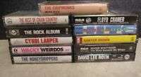 LOT OF 11/Vintage Rock/Pop / Country Cassette Tapes- 80'S/LAUPER/WHITTAKER/ROTH