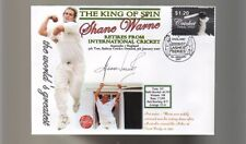 SHANE WARNE 'THE KING OF SPIN' FINAL TEST CRICKET COV 6