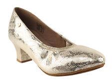 Women's West Coast Swing Salsa Ballroom Dance Shoes low Heel 2 VeryFine CD5013