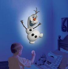 Licensed Disney Frozen Olaf Talking Wall Friends Remote Control Night Light Anna