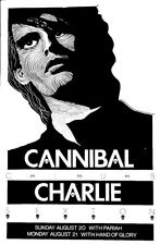 Charlie Sexton - Cannibal Club Austin 1989 Original poster By Jagmo - Scarce