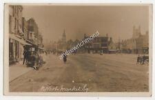 St Neots Market Square Huntingdonshire 1916 RP Postcard 685b
