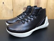 Under Armour Curry 3 Lux Limited Edition Leather Basketball Shoes Oxblood Men 10
