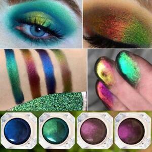 Chameleon Prismatic Eye Shadow Multi Chrome Palette Pigment Glitter Makeup x4pcs