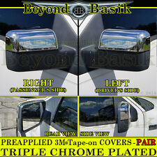 2004-2008 FORD F-150 F150 Triple Chrome HALF Mirror Covers Overlay POWER MIRRORS