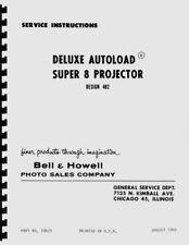 Bell & Howell 482 Autoload Super 8 Movie Projector Service Repair Manual Reprint