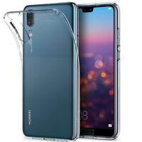 Ultra Thin Soft TPU Gel Bumper Cover Transparent Case For Huawei P20 Pro P20 UK