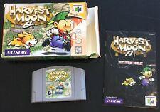 Harvest Moon 64 Nintendo 64 1999 N64 NTSC Cib Box Manual Cartridge Canadian