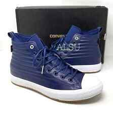 Converse Chuck Taylor AS Waterproof High Top Leather Navy Men' Size Boot 157490C