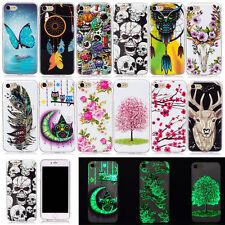 Nacht Leuchtend HandyHülle Case Cover Silikon TPU Schutz Tasche Für Smartphones