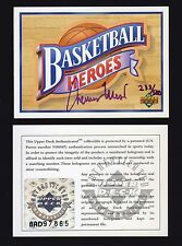 1991-92 Upper Deck Jerry West Auto Basketball Heroes Header #233/500 UDA
