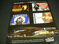 Barclays Center 2012 Promo Ad Leonard Cohen Justin Beiber The Who Russell Peters
