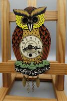 50er Kuckucksuhr Vintage Wanduhr Uhr Mid-Century Schwarzwälder Augenroller 60er