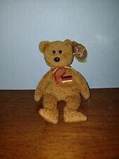 Ty Beanie Baby Germania the Bear RARE with Errors...Hang Tag in Wrote in German