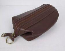Vintage Bosca Utili Kit Leather Dopp Toiletry Shaving Kit Travel Bag