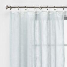 Threshold Contrast Edge Solid Sheer Window Curtain Panel Gray / White 84 x 54