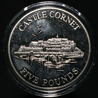 1997 | Guernsey Elizabeth II Castle Cornet Five Pounds | Cupro-Nickel | KM Coins